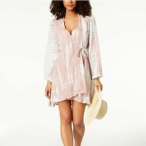 Raviya Plus Tie-Dyed Wrap Dress Swim Cover Up